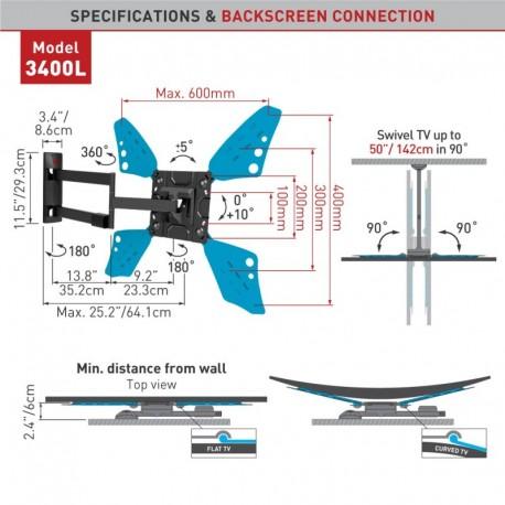 E3400L.B    LED 600*400 Barkan